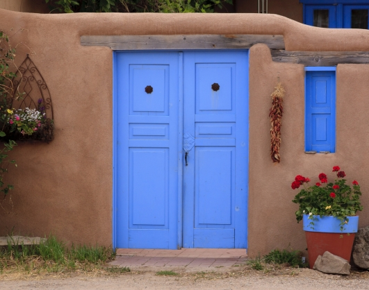 Adobe-home-blue-door
